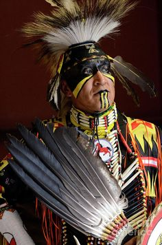 Pow Wow Native Pride by Bob Christopher Native American Face Paint, Native American Warrior, Native American Wisdom, Native American Regalia, Native American Pictures, Native American Artwork, Native American Beauty, American Indian Art, Native American History