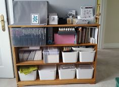 I think it's time for a craft room update. A few months ago, we had the great 'domino effect' furniture move. My son needed a desk, so we mo. Craft Room Organisation, Paper Organization, Craft Storage, Organizing, Ikea Alex Drawers, Set Of Drawers, Scrapbook Storage, Scrapbook Organization, Craft Room Tables
