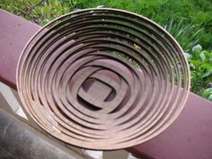 """This beautiful bowl is made of 20 layers of laser-cut bamboo tied together with copper wire.I am posting it as an entry for the """"Epilog Challenge"""". It is a..."""