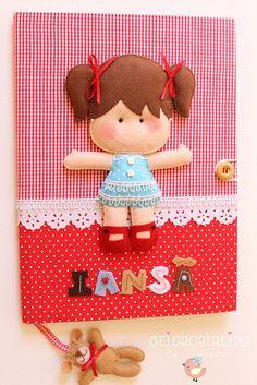 Caderno decorado by Ei menina! - Érica Catarina, via Flickr
