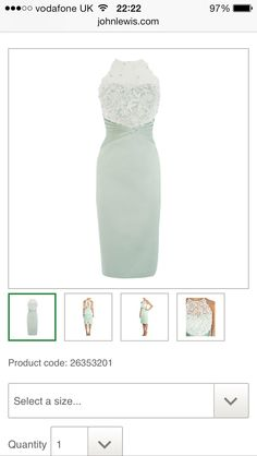 Mint green with lace dress
