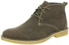 Skechers Men's Strickman Chukka Boot - 90 dollars.  Color listed as tan, but they look green in the photo.