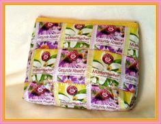 Teebeuteltasche Kosmetiktasche Kosmetiktäschchen von Claudias Atelier auf DaWanda.com
