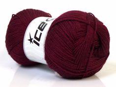 Lot of 4 x 100gr Skeins ICE MERINO GOLD (60% Merino Wool) Yarn Burgundy - Yarn