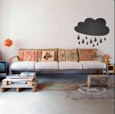 Clouds    CHALKBOARD  WALL DECAL by TheLovelyWall on Etsy, $18.00