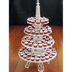 Eiffel Tower Cupcake Stand cakepins.com