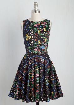 Luck Be a Lady Dress in Bright Blossoms. If youve been searching for a flirty new frock, then youre in luck! #multi #modcloth