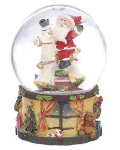 .Santa Snow Globe