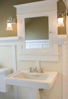 Craftsman Bath craftsman-bathroom Inspiration for a redo - Modern Craftsman Style Bathrooms, Bungalow Bathroom, Craftsman Decor, Craftsman Interior, Craftsman Style Homes, Craftsman Bungalows, Laundry In Bathroom, Upstairs Bathrooms, Small Bathroom