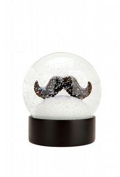 Mustache Snow Globe