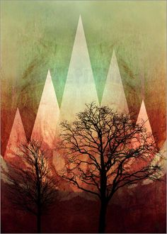 Pia Schneider | atelier COLOUR-VISION | - TREES under MAGIC MOUNTAINS I A  #art…