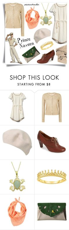 """""""Prince Naveen"""" by princesschandler ❤ liked on Polyvore featuring Gap, MICHAEL Michael Kors, Söfft, PearLustre by Imperial, Forever 21, ZOHARA, Charlotte Olympia, disney, disneybound and theprincessandthefrog"""