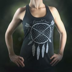 Dreamcatcher Strength & Dignity Women's Tank-Racerback Black