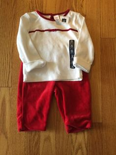 Baby Gap Girls Velour Holiday Outfit Top and Pants 3 6 Months New with Tag | eBay