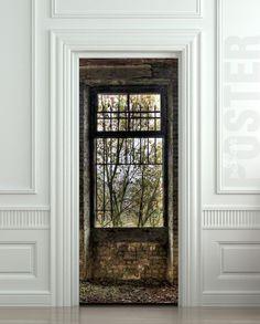 Door STICKER Window derelict barrac mural decole film by Pulaton, $29.99