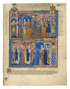 Wives for the Benjamites; Ruth, a Loyal Daughter | Fol. 17r | The Morgan Library & Museum