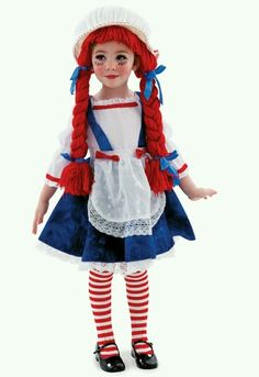 Are you looking for a Yarn Babies Rag Doll Girl Child Costume? Browse through our vast collection of exciting items for the Yarn Babies Rag Doll Girl Child Costume. Rag Doll Halloween Costume, Raggedy Ann Costume, Couple Halloween Costumes For Adults, Doll Costume, Halloween Kostüm, Art Costume, Group Halloween, Costume Makeup, Toddler Costumes
