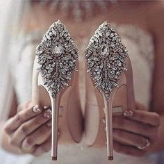 Gorgeous heels from our bestselling Kiara always looks amazing in your wedding photos via . Gorgeous heels from our bestselling Kiara always looks amazing in your wedding photos via . Bride Shoes, Prom Shoes, Shoes Heels, Flat Shoes, High Heels, Bling Bling, Types Of Gowns, Traditional Gowns, Bridal Skirts