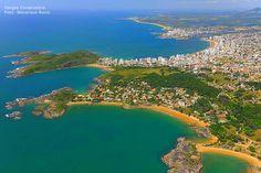 Nossas lindas Praias sequência Direita para a esquerda -     Três Praias, Praia dos Adventistas, Aldeia da Praia, Praia da Cerca, Praia do Morro e ao fundo a Enseada Azul.