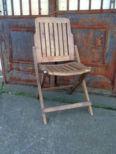 Salvaged Wood Foldable Chair, Perfect For Enjoying the sun in the backyard with friends! Outdoor Chairs, Outdoor Furniture, Outdoor Decor, Wooden Folding Chairs, Foldable Chairs, Antique Market, Enjoying The Sun, Salvaged Wood, French Country
