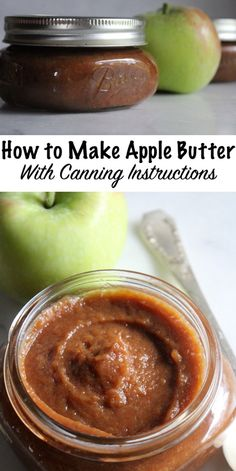 How to Make Apple Butter (with Canning Instructions) Apple butter is a luscious fruit spread made by slow-cooking apples until their sugars naturally Apple Recipes For Canning, Apple Butter Canning, Canning Apples, Homemade Apple Butter, Jam Recipes, Old Fashioned Apple Butter Recipe, Dessert Recipes, Crockpot Apple Butter, Home Canning