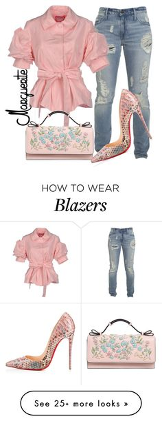 """""""Pretty Casual"""" by margueritela on Polyvore featuring Blugirl, RED Valentino and Christian Louboutin"""