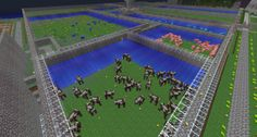 Animal Farm Minecraft Garden, Minecraft Farm, Minecraft Tips, How To Play Minecraft, Minecraft Projects, Minecraft Stuff, Minecraft Buildings, Milla, Gamer Girls