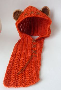 Ewok Style Crocheted Baby Hat or Hood From Star by KernelCrafts
