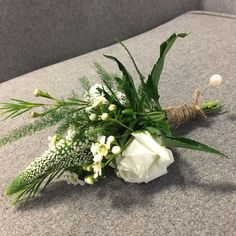 This was one of many buttonhole holes for Chloe and Ryan's wedding. Strong green ferns with all white meadow style florals to create a delicate and wild look Buttonhole Flowers, Wedding Buttonholes, Chloe Meadows, Button Holes Wedding, Different Flowers, Gothic Wedding, All White, Green Wedding, Wedding Themes