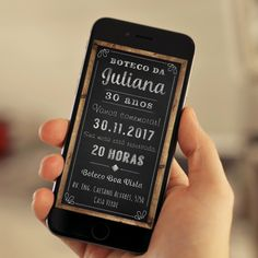 Convite digital para Whatsapp com o tema boteco.
