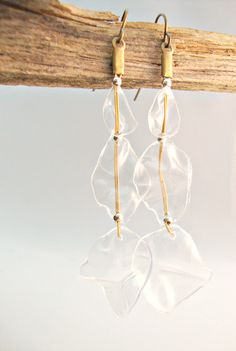 Upcycled Plastic Water Bottle Earrings