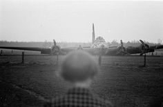 A shot down B-17 of the 92nd Bomb Group, Bornerbroek, Netherlands, 1943.   Flickr - Photo Sharing!