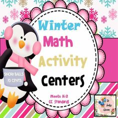 Winter Math Activity Centers Free downloads and loads of ideas for Pre K to 2nd Grade math.  #free #math #homeschool