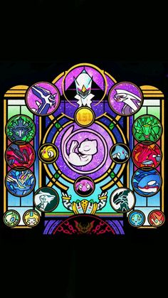 Pokémon stained Glass