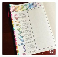 Adulting journal page