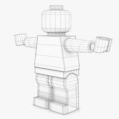 free lego minifigure brick figure 3d model - Brick Figure... by hjmediastudios