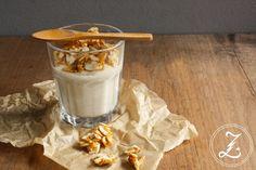 Bananen-Vanille-Pudding mit kandierten Mandelblättchen | Zuckergewitter.de