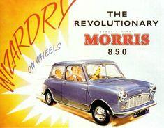Poster from the launch of the Morris Mini-Minor John Cooper, Mini Cooper S, Mini Countryman, Mk1, Vintage Advertisements, Vintage Ads, Classic Mini, Classic Cars, Pick Up