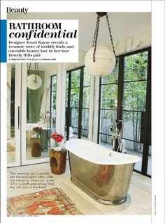 I tend to avoid baths, preferring showers to an exponential degree, but this bathroom (Jenni Kayne's) makes me reconsider my stance.