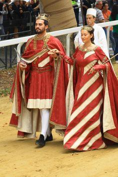 Costumi eseguiti per Comitato Palio Moncalvo e partecipanti al Palio di Asti