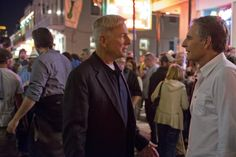 Gibbs (Mark Harmon, left) and Special Agent Pride (Scott Bakula, right) chase leads in New Orleans after evidence points to a copycat of the infamous Privileged Killer
