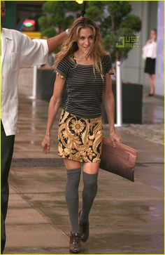 knee high socks This is doing this right. Not a dress looking fet-like. An outfit.  Classy