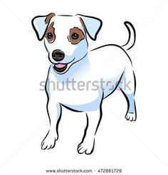 Vector closeup portrait of cute Jack russel terrier breed puppy isolated on white background. Shorthair small-sized little terrier dog. Hand drawn sweet home pet. Jack Russell Terriers, Jack Russell Dogs, Terrier Breeds, Rat Terriers, Drawing Ideas List, Painted Rocks Craft, Cartoon Drawings Of Animals, Silhouette Images, Dog Crafts