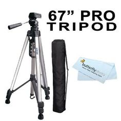 The Tripod is high quality, and has leveling options to make sure your Camera doesnt point or fall over.