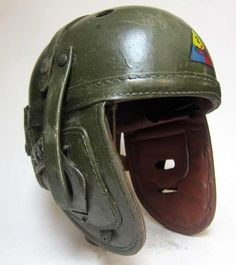M38 USA Tankers or 'FURY' Helmet. This reproduction helmet is exactly like our new version but has been made to look used. It is perfect for US Armoured Reenactors or similar.   http://www.warhats.com/store/p470/WW2_USA_M38_Tanker_Helmet_-_2'd_Armoured_division_-_USED_Condition.html   www.warhats.com