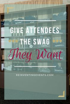 http://reinventingevents.com/2016/09/attendee-swag/?utm_campaign=coschedule&utm_source=pinterest&utm_medium=Reinventing%20Events It's important to give attendees the swag they want to stand out and create a memorable experience. Read more and then repin to save! @reinventevents #EventProfs #Events #Conferences #EventTips #EventPlanning #Swag