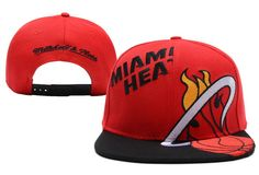 NBA MIAMI HEARTER SNAPBACK Mitchell And Ness Red 512! Only $8.90USD