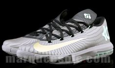 Preview Photos: Nike KD VI | Grey, Mint & Gold