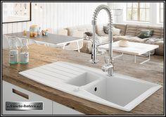 Chiuveta bucatarie Mezzo Duo din granit compozit, culoare alba Sink, House, Home Decor, Houses, Pictures, Faucet, Granite, Sink Tops, Vessel Sink