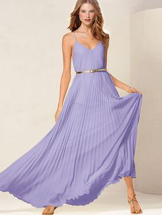 Knife-pleat Maxi - If I had to choose just one dress for spring, it would be a MAXI! It's the perfect all occasion dress!